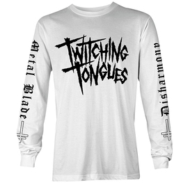 "TWITCHING TONGUES - DISHARMONY ""THE END OF LOVE"" LONG SLEEVE T-SHIRT (GREY)"