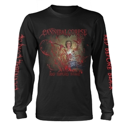 CANNIBAL CORPSE - RED BEFORE BLACK LONGSLEEVE T-SHIRT (BLACK)
