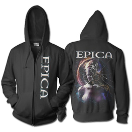 EPICA ROBOT ZIP HOODED SWEATSHIRT (BLACK)