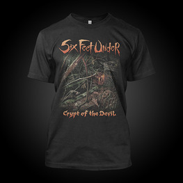 SIX FEET UNDER ALBUM DESIGN T-SHIRT (BLACK)