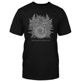 AMMONITE DESIGN T-SHIRT (BLACK)
